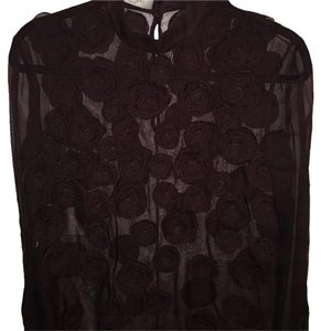 Valentino Silk Long Sleeve Sheer Top