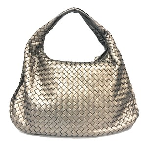Bottega Veneta Bottega Leather Bottega Bottega Red Metallic Hobo Bag