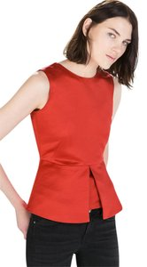 Zara Peplum Top Red