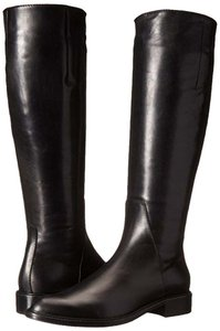 Aquatalia by Marvin K. Leather Riding Sleek Black Boots