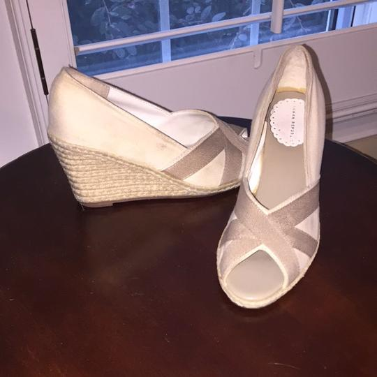 Banana Republic Cream And Light Brown Wedges Image 1