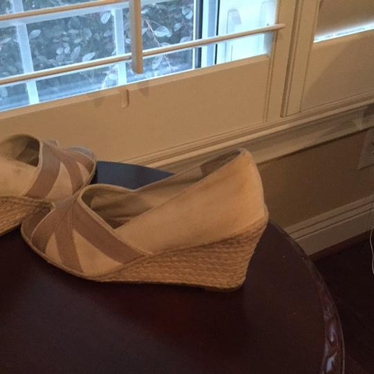 Banana Republic Cream And Light Brown Wedges Image 2