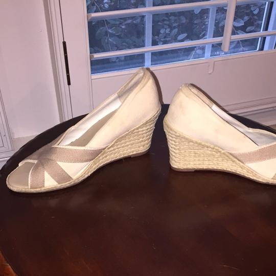 Banana Republic Cream And Light Brown Wedges Image 3