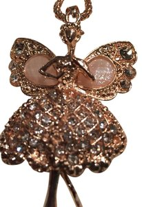 Betsey Johnson Ballerina butterfly long suetter necklace.