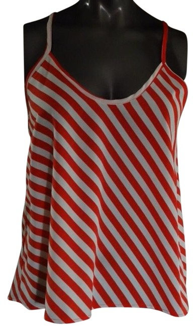 Item - Red and White Tank Top/Cami Size 4 (S)
