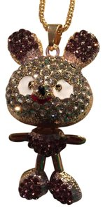 Betsey Johnson Mouse long suetter necklace 29long