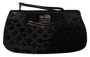 Coach Large Wristlet in Black