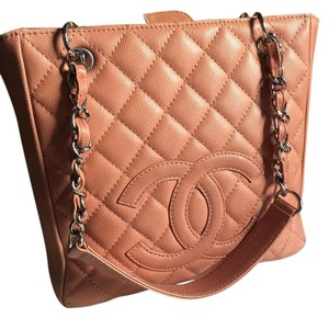 Chanel Caviar Pst Shopping Tote in Beige