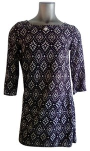 Divided by H&M short dress Black, White Geometric Pattern Work Night Out 100% Viscose on Tradesy