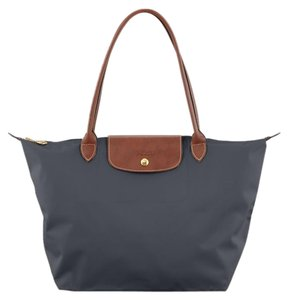 Longchamp Tote in Gunmetal