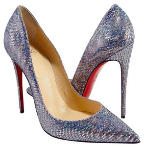 Christian Louboutin So Kate Disco Glitter silver Pumps