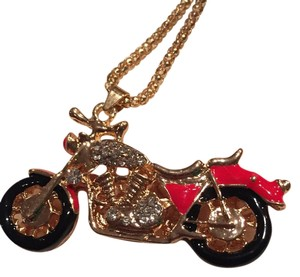 Betsey Johnson Red motorcycle