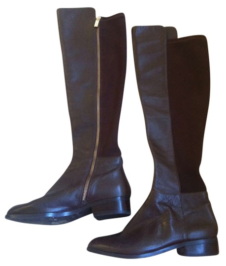 Michael Kors Bromley Leather Riding Brown Boots