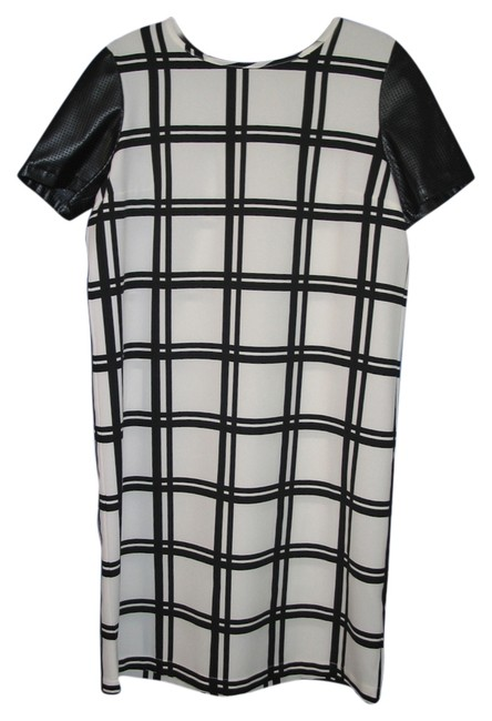 ASOS short dress Black & White Plaid Checkered Day Faux Leather on Tradesy