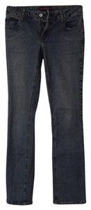 BCBGMAXAZRIA Straight Leg Jeans-Light Wash