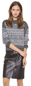 Alexander Wang Fair Isle Wool Sweatshirt Gray Sweater