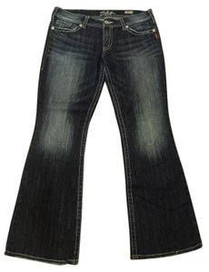 Silver Jeans Co. 34 Waist 32 Length Western Boot Cut Jeans-Distressed