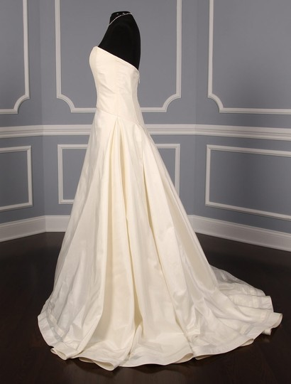 Austin Scarlett Ivory Stretch Silk Taffeta with Silk Lining Cora As52 Formal Wedding Dress Size 10 (M)