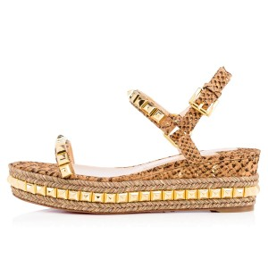 Christian Louboutin Gold Sandals