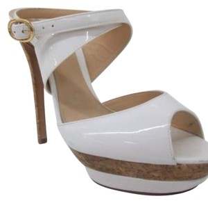 Alexandre Birman White, gold, cork Platforms