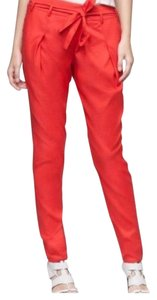 Helmut Lang Trouser Pants red / orange