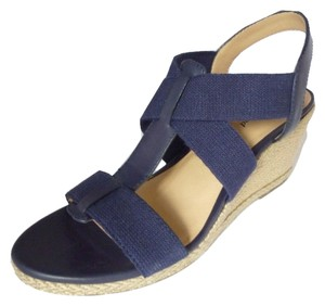 Lucky Brand Leather Sandal Wedge Moroccan Blue Sandals