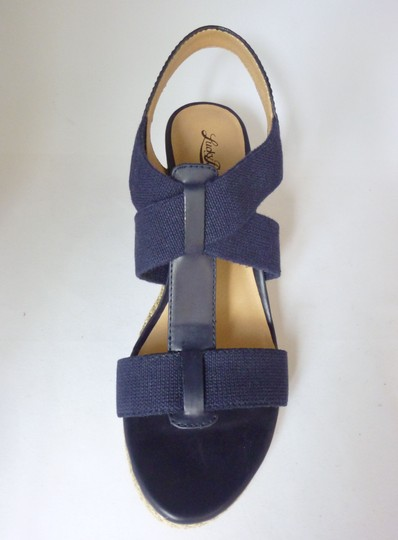 Lucky Brand Leather Wedge Moroccan Blue Sandals Image 2