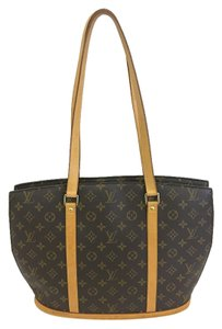 Louis Vuitton Lv Monogram Babylone Tote in brown