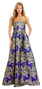 Adrianna Papell Ball Gown Jacquard Floral Dress