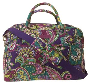 Vera Bradley Carryon Weekender Overnight Heather Travel Bag