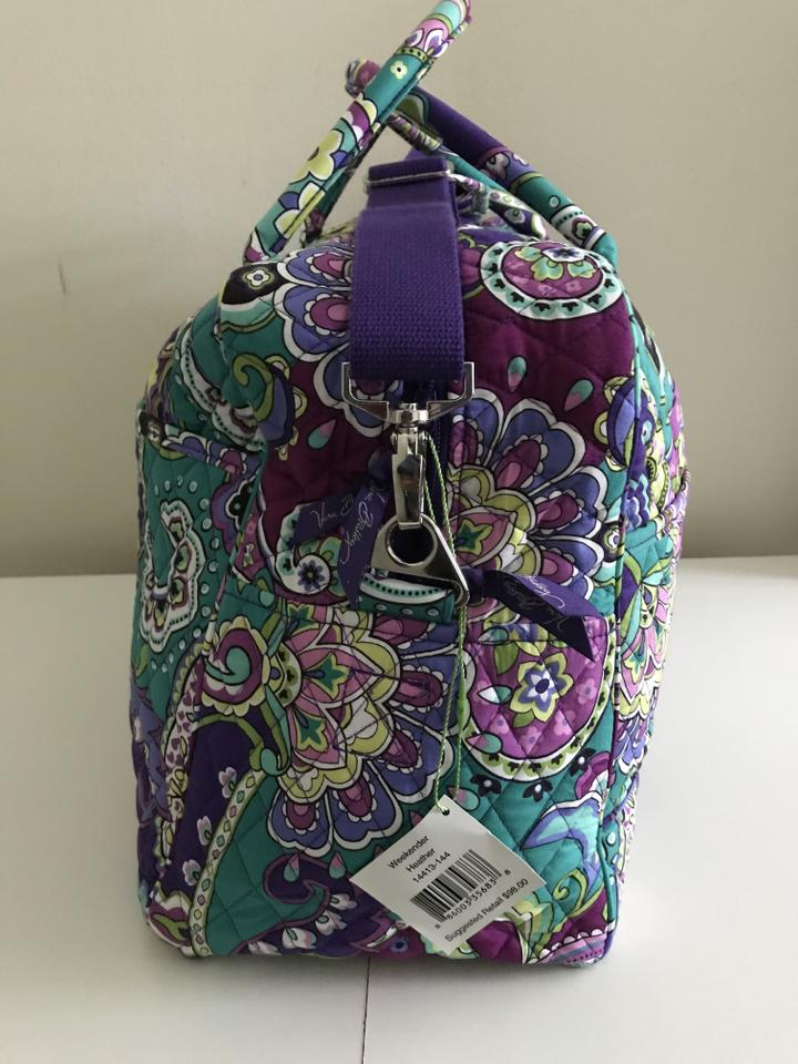 Vera Bradley Carry On Retired Print Heather Cotton Weekend