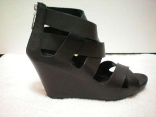 Dolce Vita Leather Comfortable Black Wedges