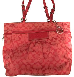 Coach Tote in Cherry Red