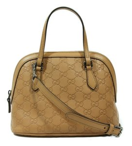 Gucci 341504 Gg Convertible Mini Dome Leather Cross Body Bag