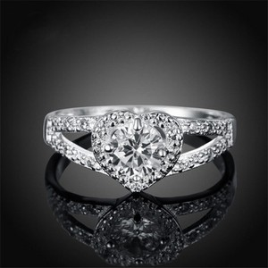 Silver Bogo Free Romantic Heart Shaped Promise Free Shipping Ring