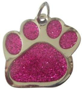 Other Pink Glitter Dog Paw Pendant Free Necklace & Shipping
