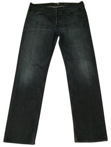 7 For All Mankind Mens Seven Mens Dress Mens Designer Relaxed Fit Jeans-Dark Rinse