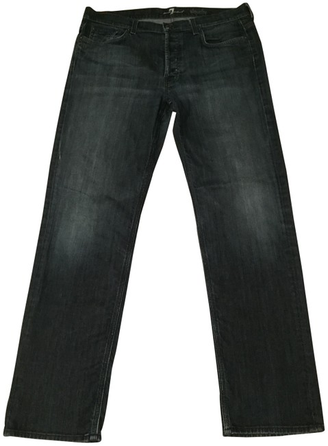 Item - Dark Wash Rinse Mens Seven Relaxed Fit Jeans Size 36 (14, L)