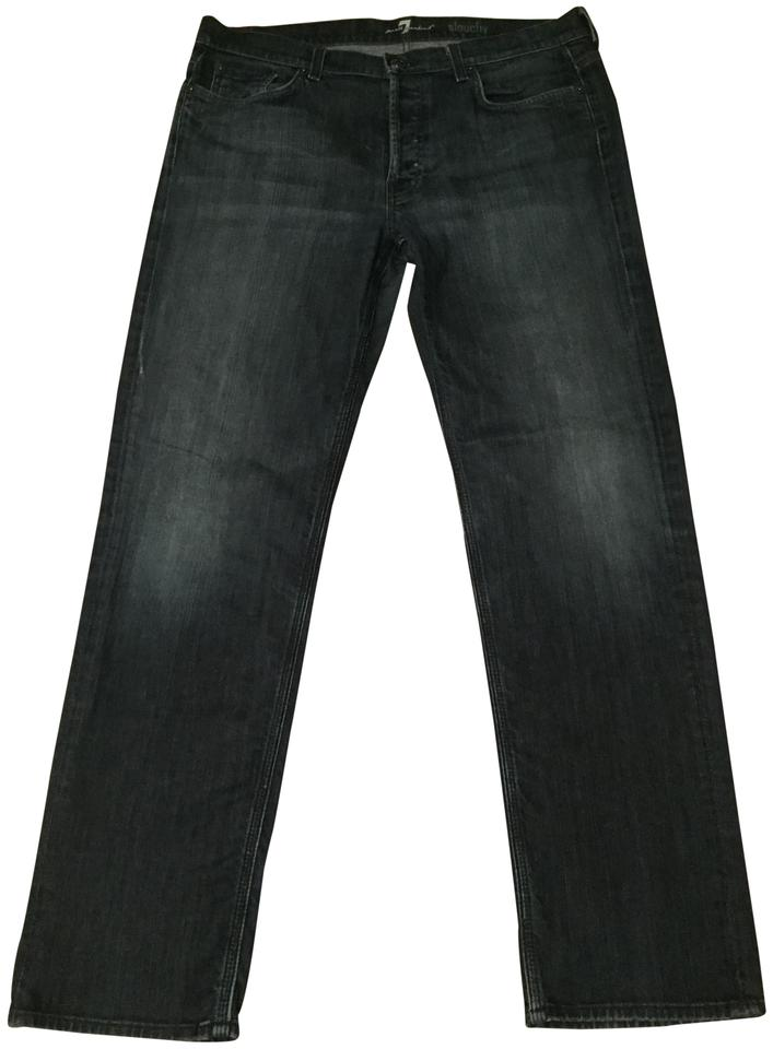 76d400970 7 For All Mankind Dark Wash Rinse Mens Seven Relaxed Fit Jeans Size ...