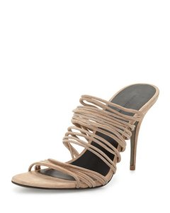Alexander Wang Stretch Suede Suede Strappy Occasion Beige Sandals