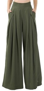 Wide Leg Pants Olive green