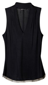 The Limited Silk Lace Sleeveless Top Black