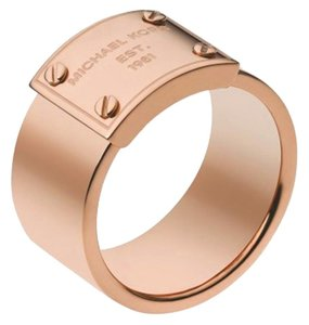 Michael Kors MKJ2659 Michael Kors Logo Plaque Ring Rose Gold Tone