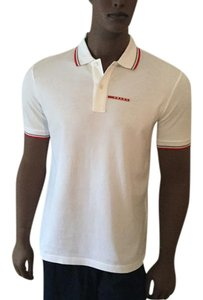 Prada T Shirt White/Red