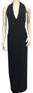 Laundry by Shelli Segal Full Length Low Low Cut V-necked Lined Stretchy Dress