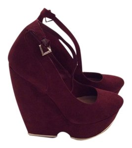 JustFab Burgundy Wedges