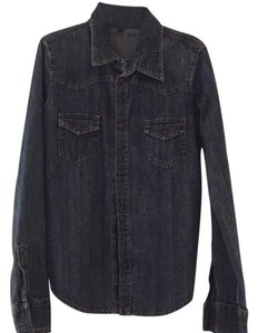 Earl Jeans Button Down Shirt Blue Denim