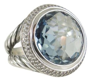 David Yurman David Yurman Blue Topaz Diamond 18mm Cerise Ring
