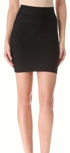 Herv Leger Bodycon Pencil Mini Skirt Black