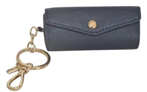 Kate Spade NWT KATE SPADE LIPSTICK HOLDER KEY FOB RING FOR BAG NAVY SAFFIANO LEAT